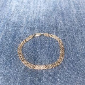 Jewelry - Woven Flat Link Sterling Silver Bracelet
